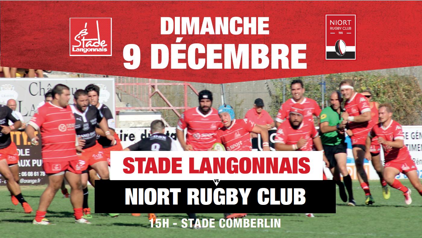 Stade Langonnais – Niort Rugby Club : repas d'avant-match