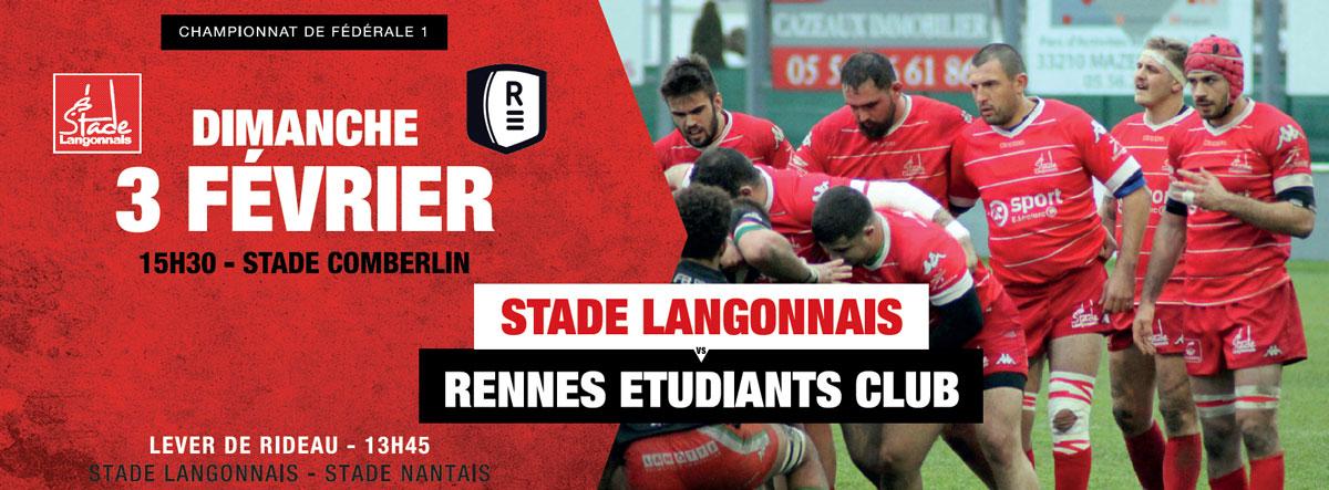Stade Langonnais – Rennes Etudiants Club : Menu du repas d'avant-match !