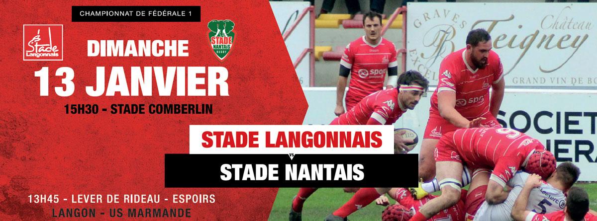 Stade Langonnais – Stade Nantais : la composition de l'équipe