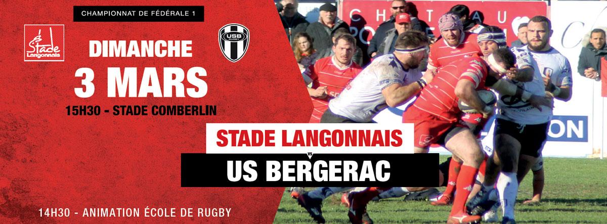 Stade Langonnais – US Bergerac : repas d'avant-match !