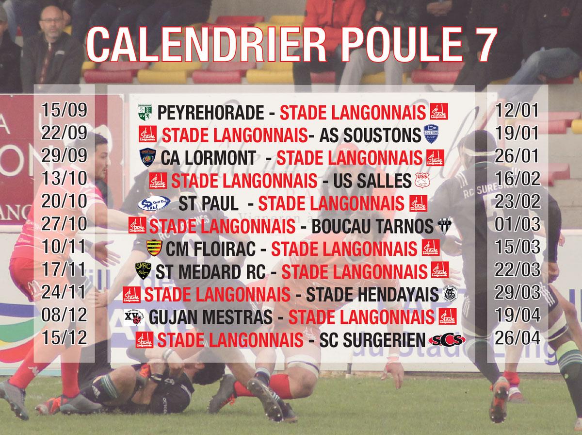 Le calendrier révélé par la FFR !