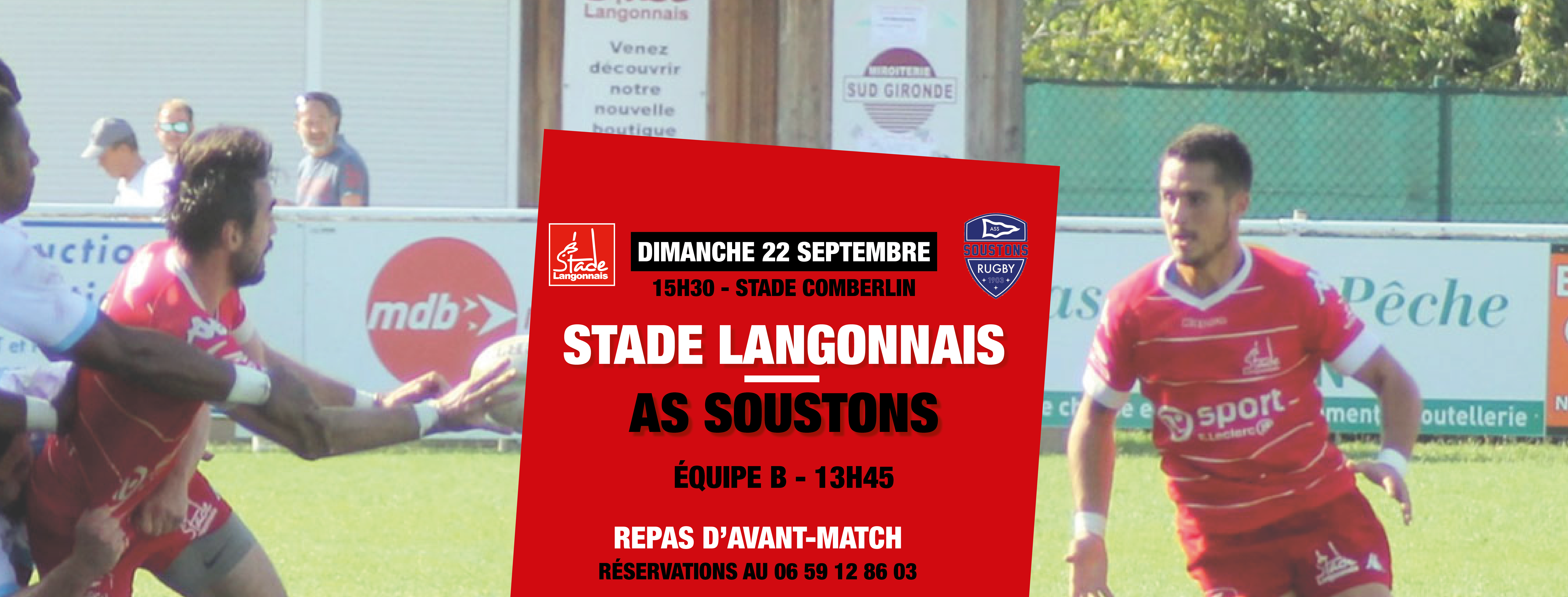 Repas d'avant-match Langon – Soustons