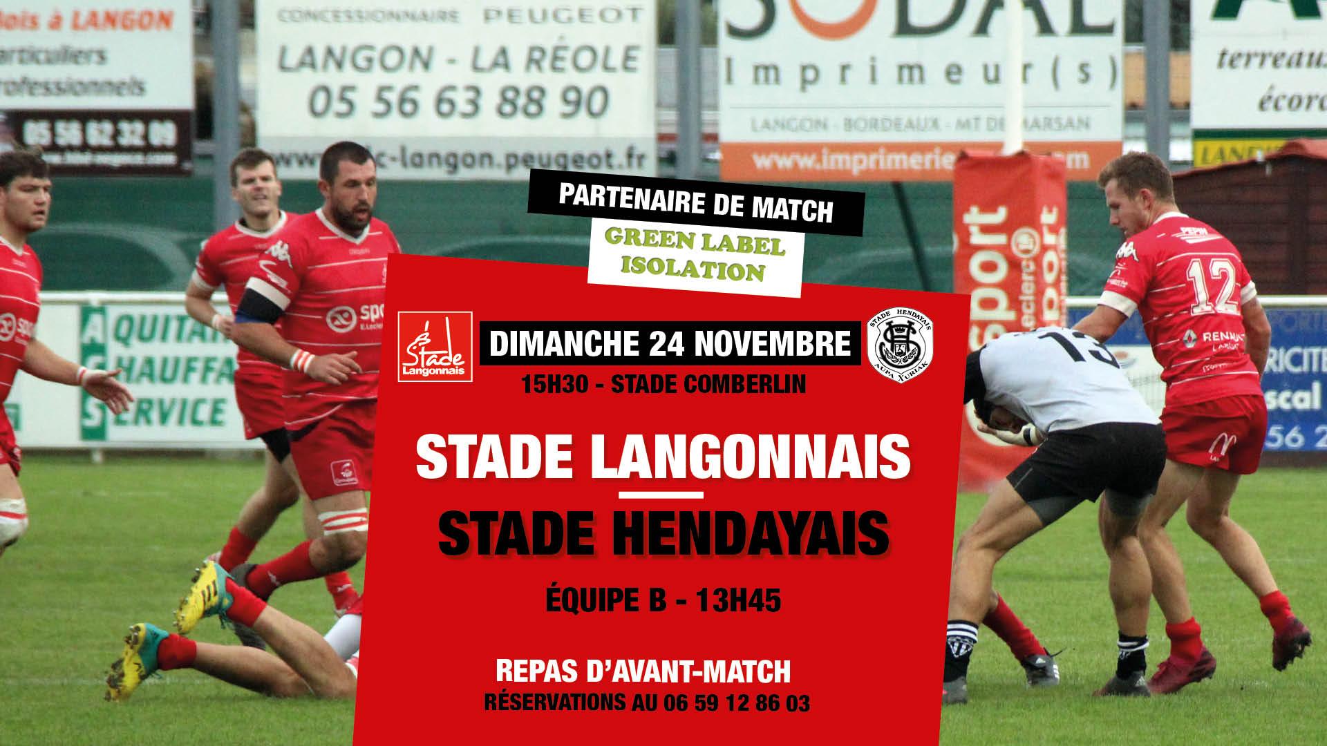 Stade Langonnais – Stade Hendayais : repas d'avant-match