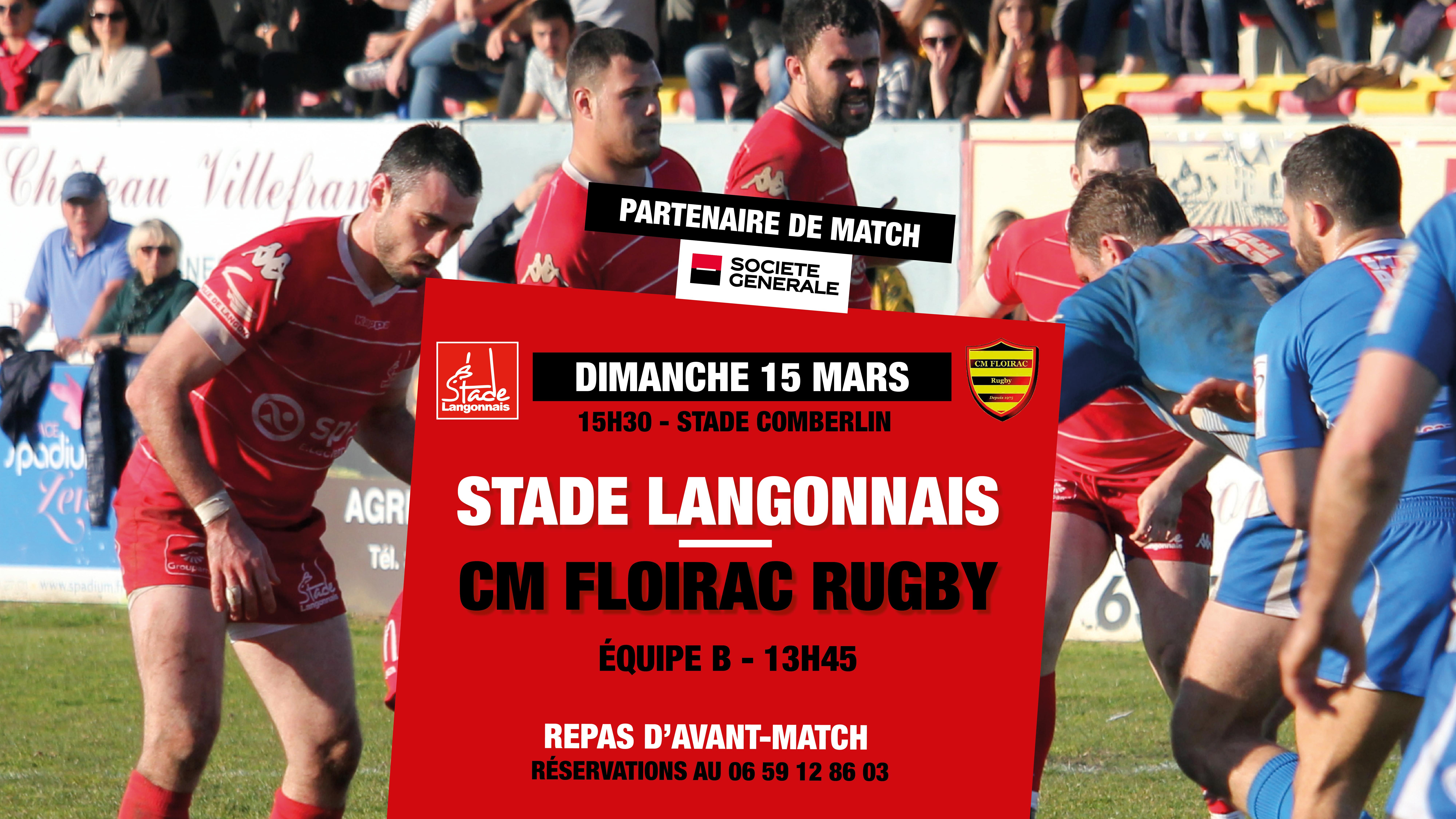 Repas d'avant-match Stade Langonnais – CM Floirac Rugby