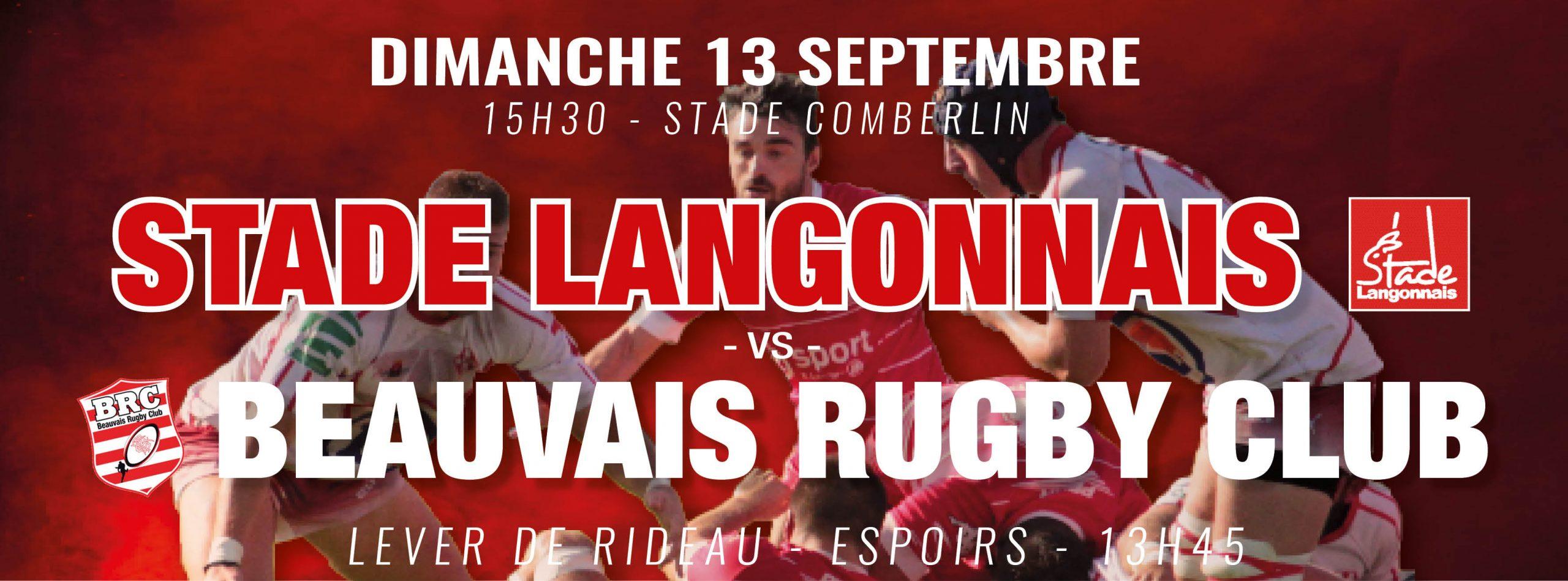 Stade Langonnais – Beauvais RC : menu du repas d'avant-match