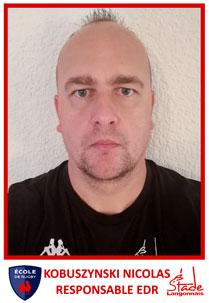 Il est le responsable de l'Ecole de Rugby : Il, c'est Nicolas Kobuszynski
