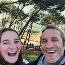 fred dejeans ancien demi d'ouverture du stade langonnais et sa fille