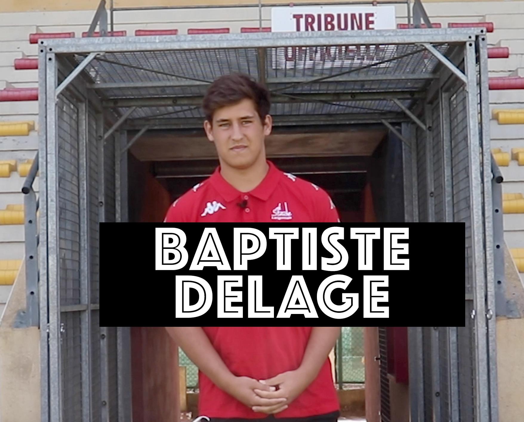 Baptiste Delage sera dorénavant Stadiste à temps plein